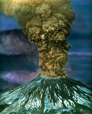 Ash plume from Mount St Helens in 1980