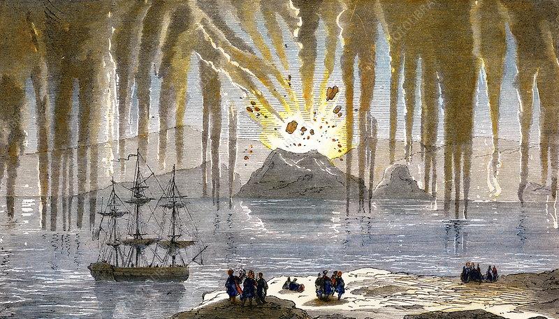 Santorini eruption, 1866