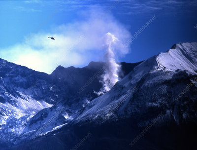Steam Rising From Mount St. Helens