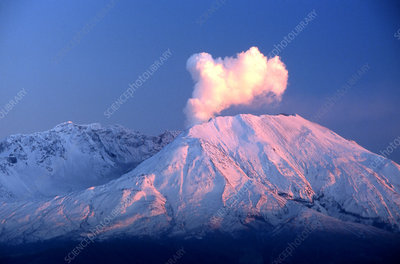 Mount Saint Helens Venting Steam