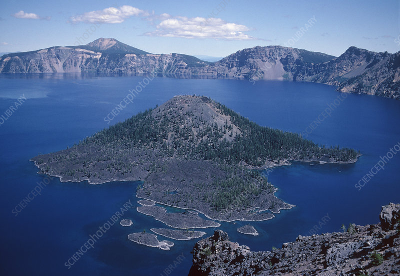 Crater Lake volcano, USA