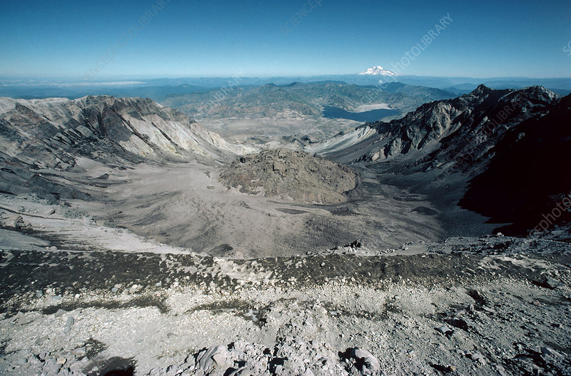 Mount St Helens volcanic crater, USA