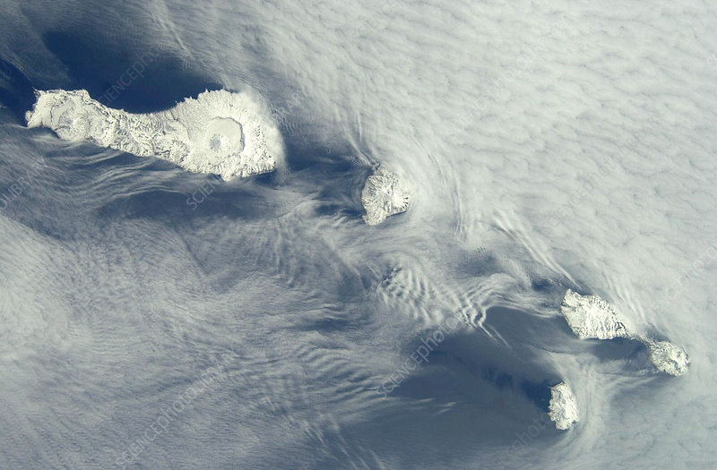 Kuril Islands, ISS image