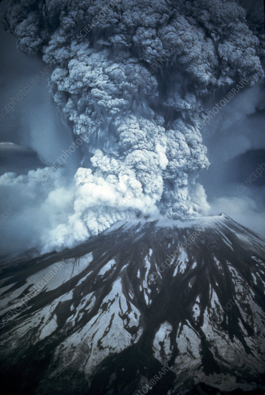 Mount St Helens erupting, May 1980