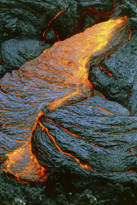 Lava flow on Piton de la Fournaise volcano