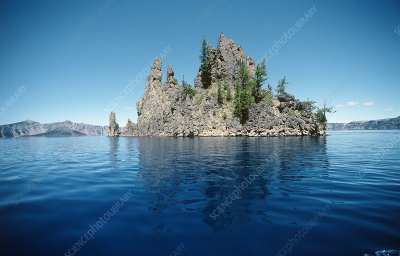 Volcanic rock formation, Crater Lake, USA