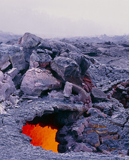 Lava tube, Kilauea volcano, Hawaii