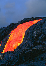 Lava flow from Kilauea volcano