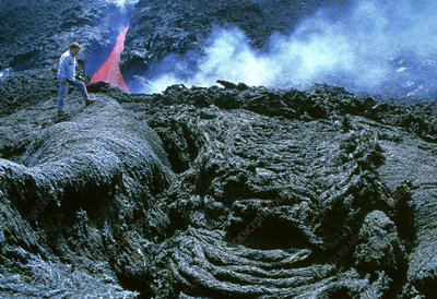 Lava flow rock formations