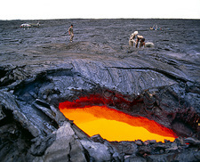 Lava flow research, Hawaii