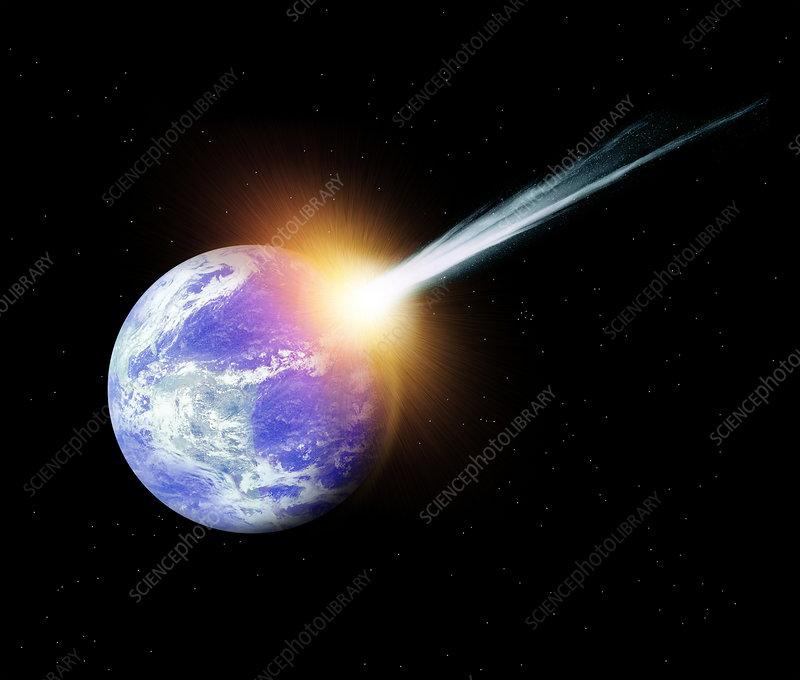asteroid hitting earth dust - photo #13