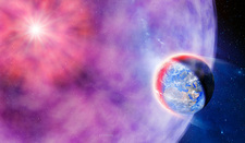 Gamma ray burst hits Earth