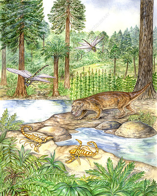 Early Triassic Scene