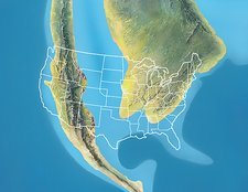 North America, Mid Cretaceous period