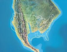 North America, Late Cretaceous period