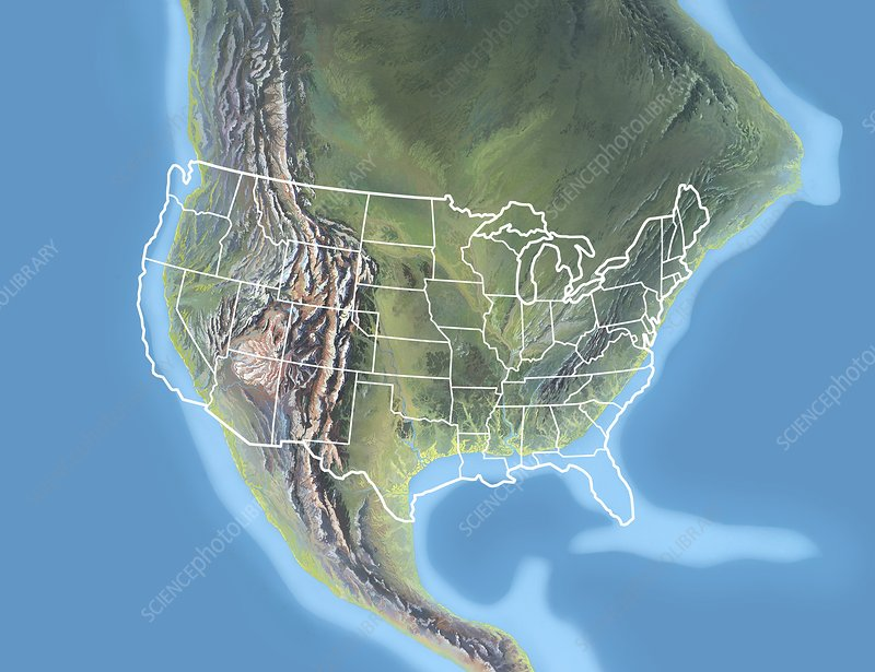 North America, Early Tertiary period