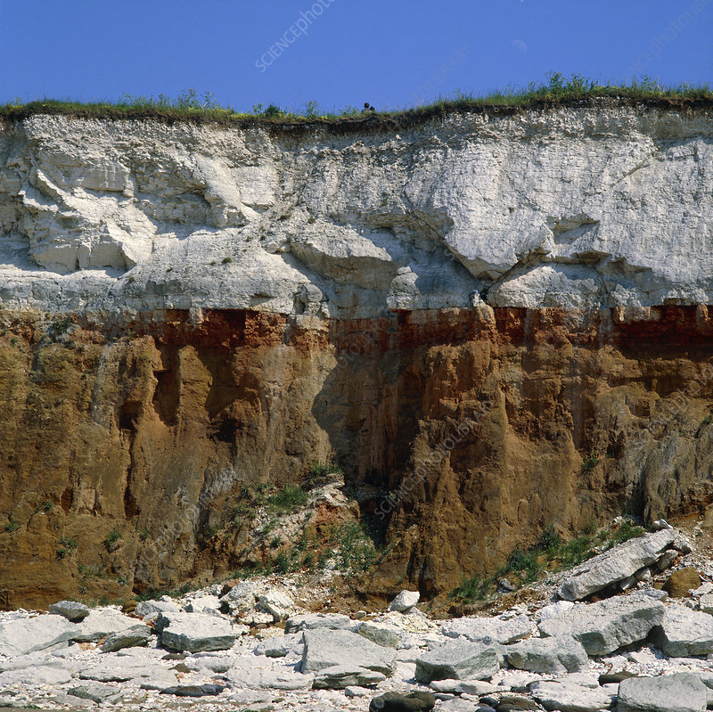 Rock strata in cliff, England