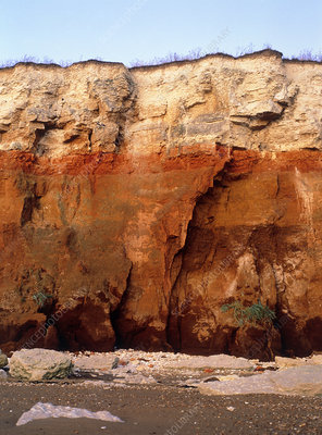 Rock strata in cliff face, Hunstanton