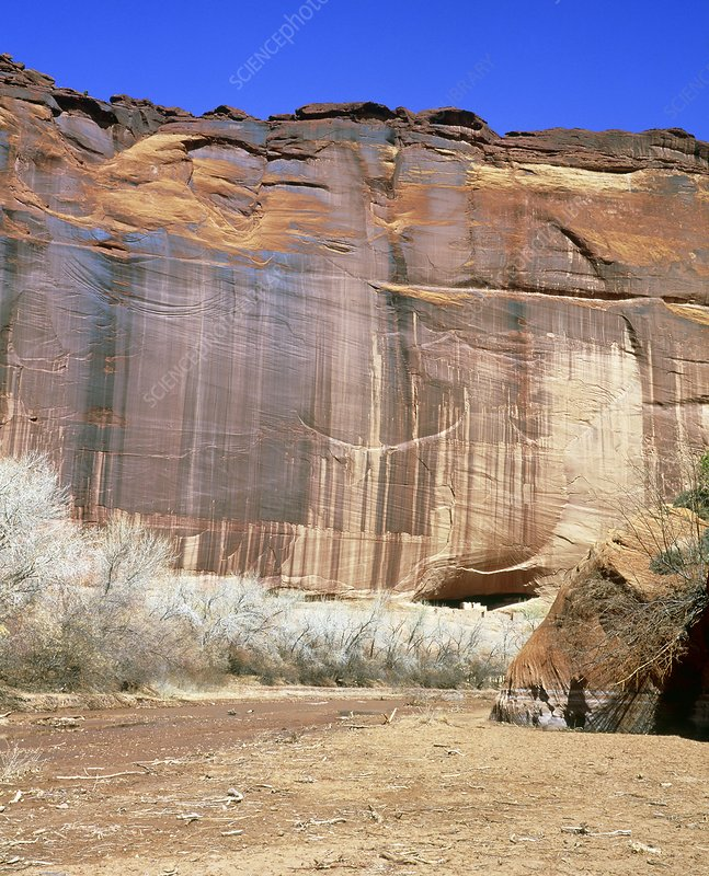 Sandstone cliffs with desert varnish, Arizona