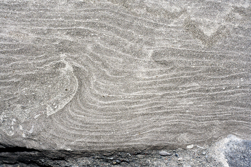 Ripple marks in sandstone