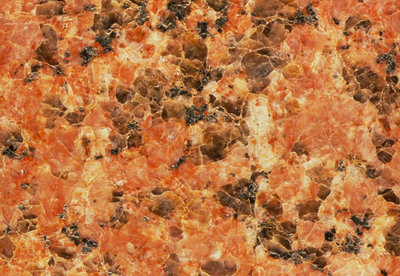Macrophotograph of pink granite