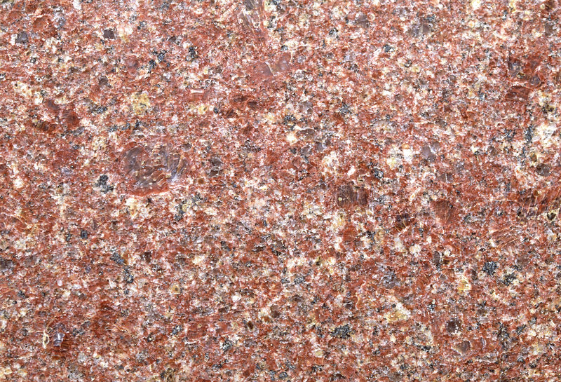 Cut surface of red granite with phenocrysts
