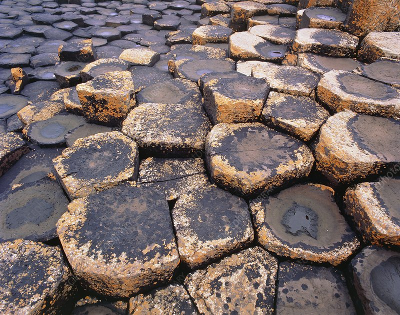 Basalt column formation of Giant's Causeway