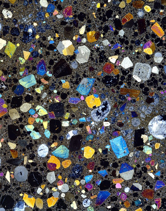 Leucite basanite, thin section