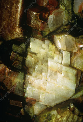 Macro photo of feldspar crystals