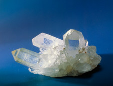 Quartz crystal from Sentis, Switzerland.