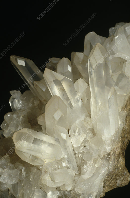 Quartz crystal mineral