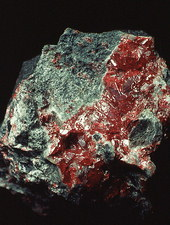 A specimen of the mineral cinnabar in Spain