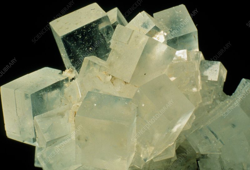 Cubic crystals of rock salt