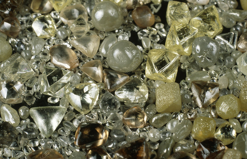 Natural and synthetic industrial diamonds