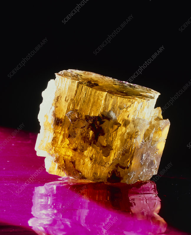 Golden beryl or heliodor