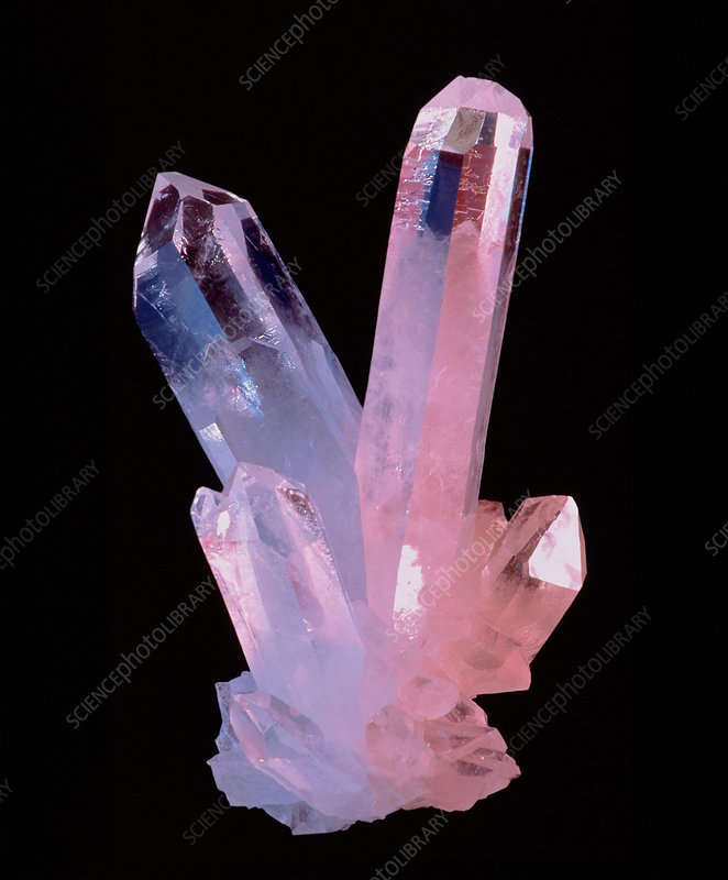 Clear quartz crystals (rock crystals) - Stock Image - E425 ...Quartz Crystal Science