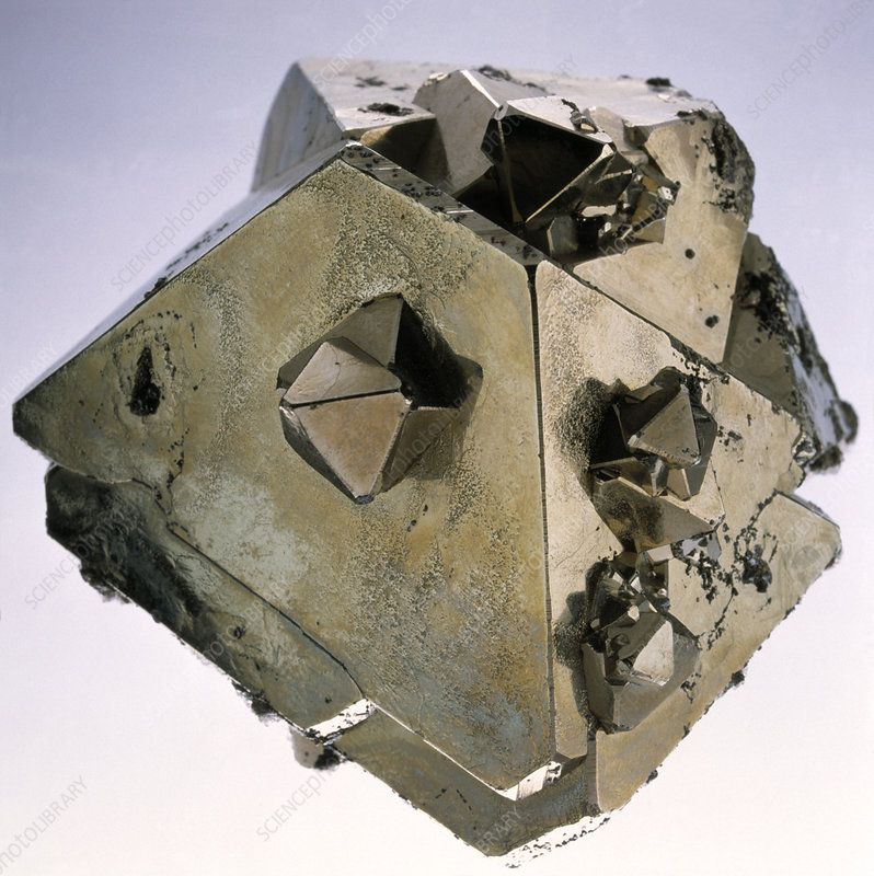 Iron pyrite crystal