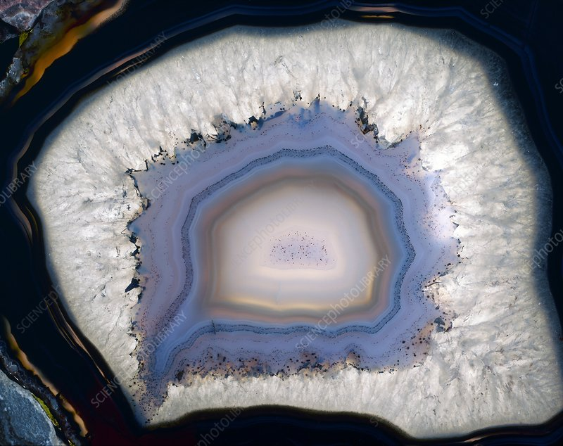 Agate, artificially coloured