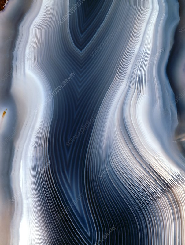 Concentric banding in agate