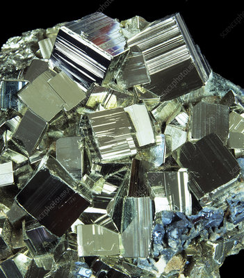 Iron pyrite crystals