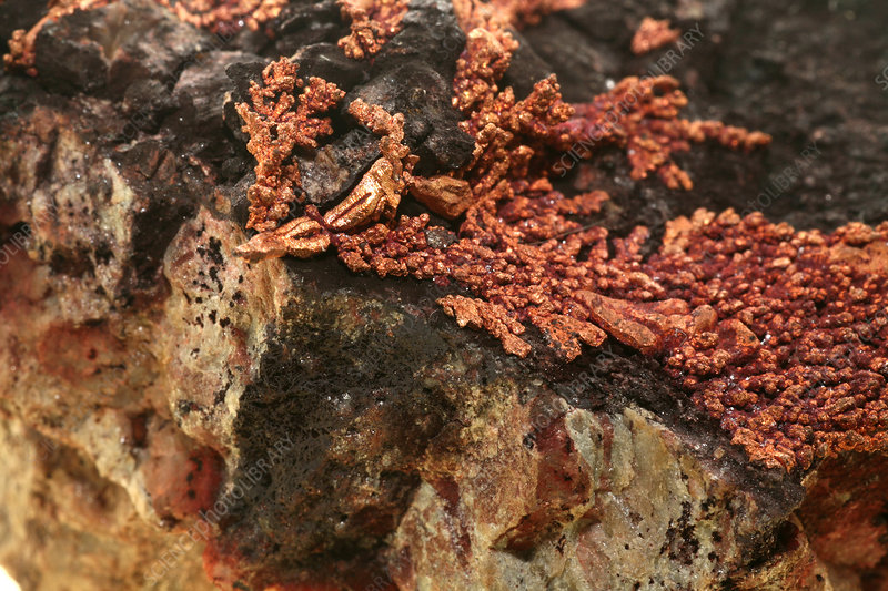 Copper and cuprite
