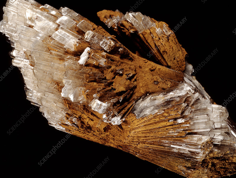 Gypsum and limonite minerals