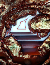 Polished Esterel rhyolite agate