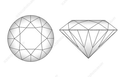 Diamond cutting pattern, artwork