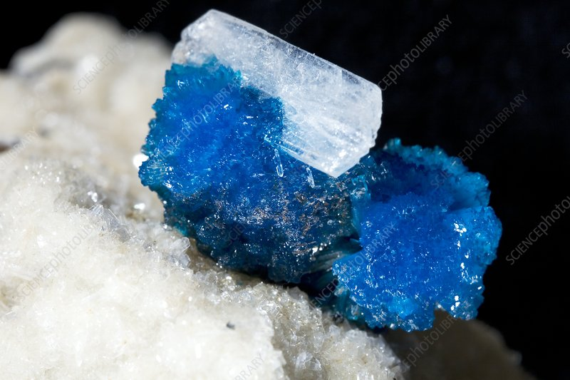 Cavansite and stilbite crystals