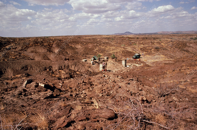 Excavation site at East Turkana, Kenya