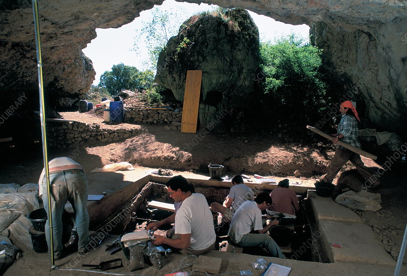Excavations at Cueva del Mirador