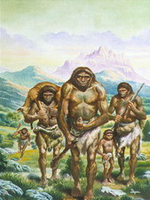 Homo erectus returning from hunt
