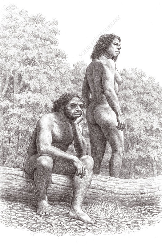 Neanderthal couple