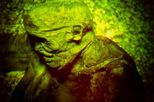 Hologram of the mummified body of Lindow Man